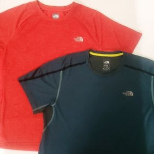 2 Men's The North Face FlashDry Shirts, size large